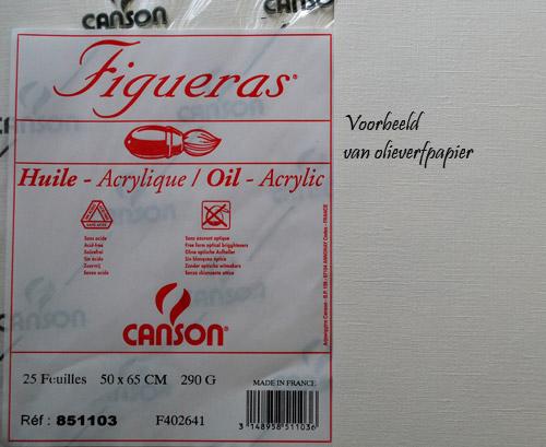 olieverfpapier een van de vele soorten en maten die te verkrijgen is.